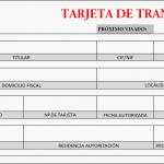 Tarjeta de transporte mercancías